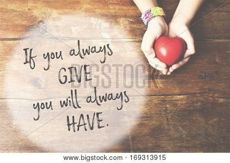 Give And Have Hands