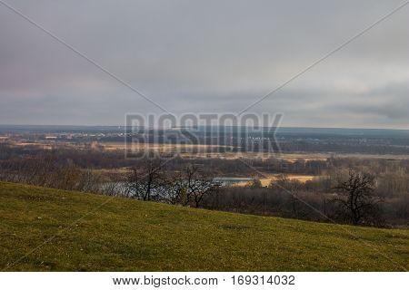 Autumn landscape in suburban area of Vladimir