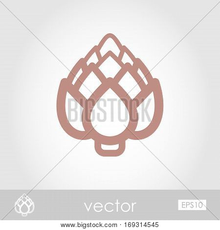 Artichoke outline icon. Vegetable vector illustration eps 10