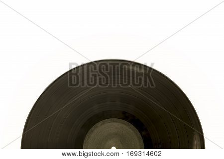 an oldschool vinyl record on white background
