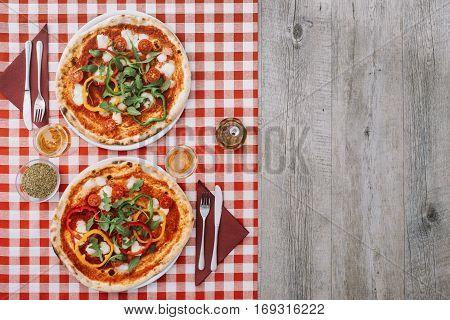 Tasty Pizza At The Restaurant
