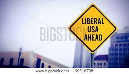 liberal usa ahead against view of apartment with blue sky