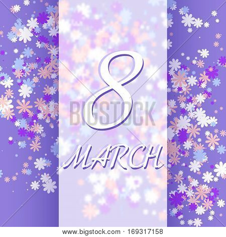 8 March women's day greeting card template. Vector illustration. Eps 10.