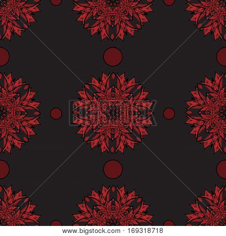Vector seamless floral background. Pattern for design, brochures. Eps10