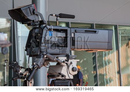 Professional Digital Video Camera for Tv News Broadcasting