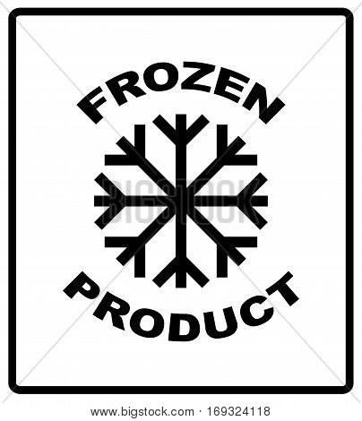 Keep frozen. Storage in Refrigerator and Freezer packaging symbol on a corrugated cardboard box. For use on cardboard boxes, packages and parcels. Vector illustration.