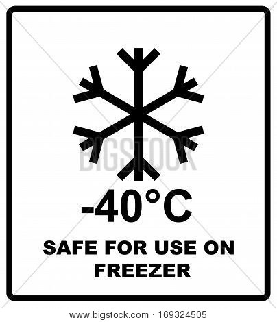 Safe for use on freezer icon , safe for use on freezer symbol. Storage in Refrigerator and Freezer packaging symbol. For use on cardboard boxes, packages and parcels. Vector illustration.