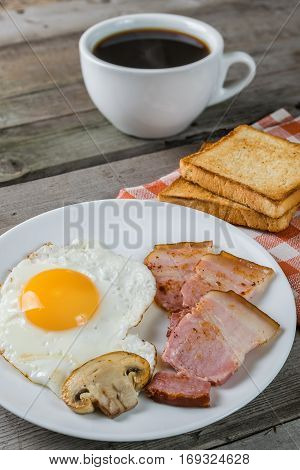 Fried Eggs And Bacon