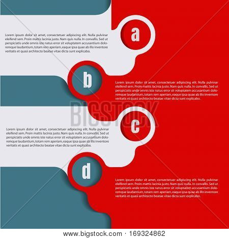 Vector infographic template background with four steps abcd