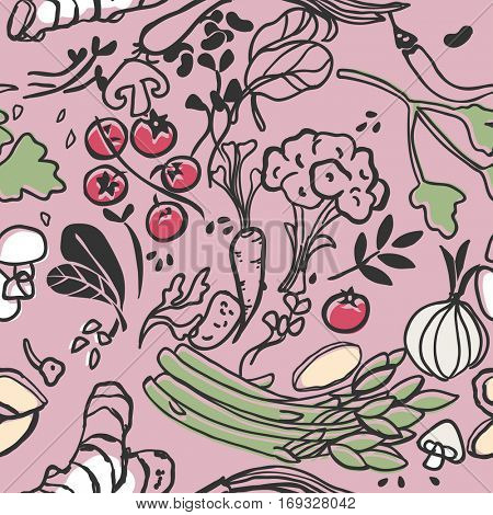 vegetable seamless pattern