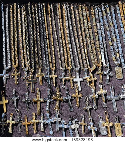 Cross Pendants and Necklaces Jewelry Religious Memorabilia