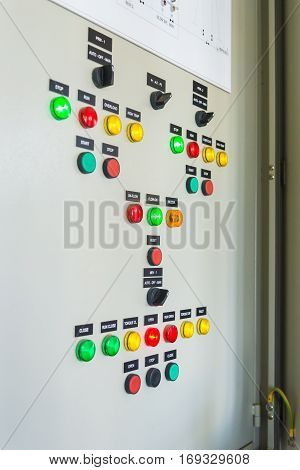 Control Panel In The Factory