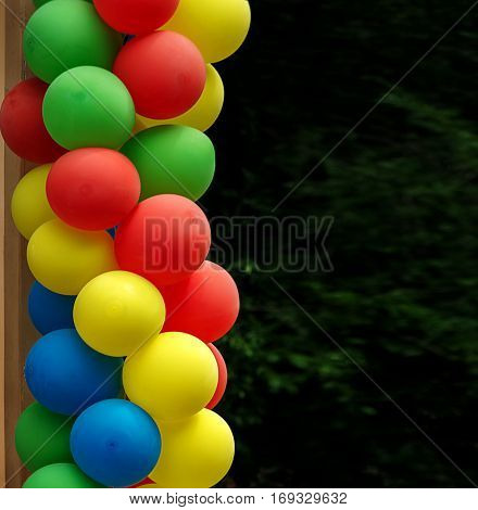 cocolorful balloons - a symbol of celebration of the joys of childhoodlorful balloons - a symbol of celebration of the joys of childhood