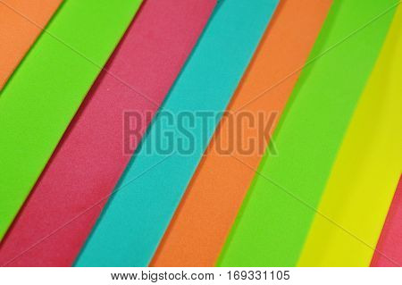 close up of color foam rubber board overlay