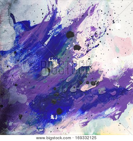 Abstract painted background - expressive brush strokes- art texture