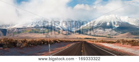 The Sierra Nevada is a stretch of mountains that straddle between Calfiornia and Nevada