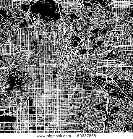 Los Angeles Vector Map