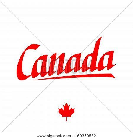 Handwritten word Canada. Calligraphic element for your design. Vector illustration.