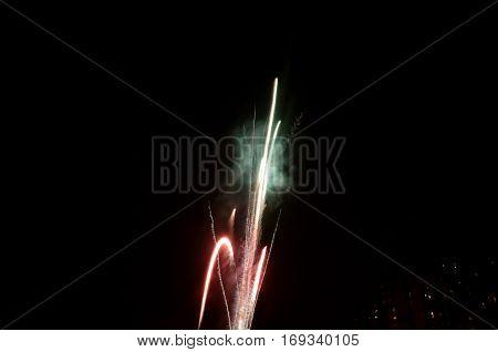 Firework Rocket Exploding