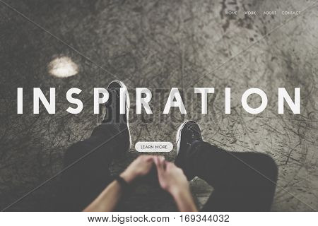 Inspire inspiration positivity word concept