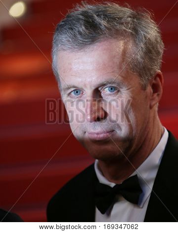 Bruno Dumont  attends the 'Slack Bay (Ma Loute)' premiere during the 69th annual Cannes Film Festival at the Palais des Festivals on May 13, 2016 in Cannes, France.