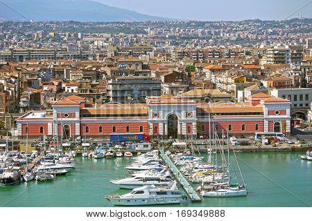 CATANIA. ITALY. - June 25, 2013: Port of Catania,Sicily. ITALY.