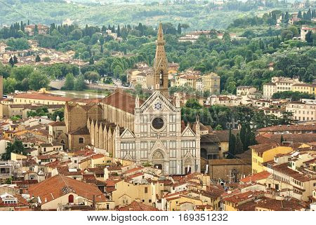 Basilica di Santa Croce, Florence, view from the Dome