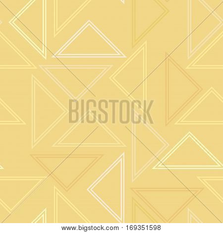 Abstraction composed of different triangles. Modern sealmless abstract texture, pattern