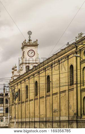 Riobamba Historic Center Urban Scene