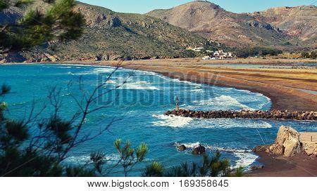 Portman village located between La Manga Club and Cartagena city. Spain