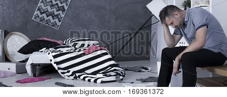 Broken Man After Burglary