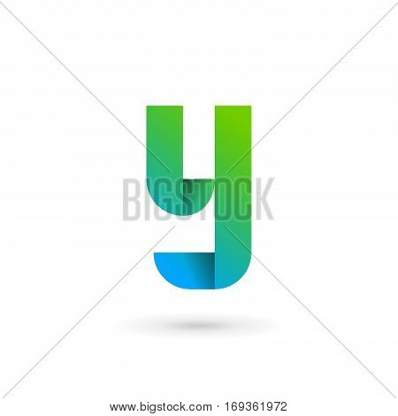 Letter Y Ribbon Logo Icon Design Template Elements