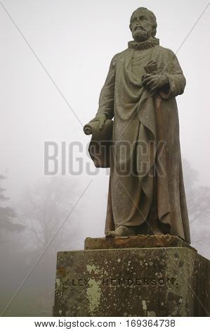 Statue of Scottish Theologian and Reformer Alex Henderson