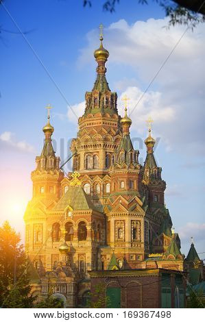 Russia suburb of Saint Petersburg the St. Peter and Paul Cathedral