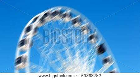 In South Africa Close Up Of The Blur Ferris Weel