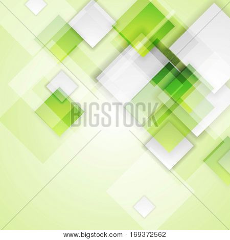 Light green squares abstract tech background