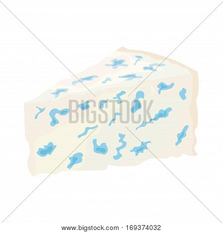 soft cheese with a blue mold. vector illustration on a white background