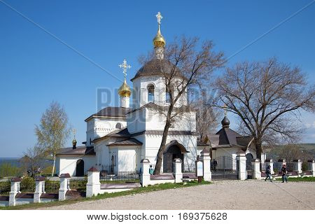 SVIYAZHSK, RUSSIA - MAY 02, 2016: Sunny day in may at the old Orthodox Church of Constantine and his mother Helena