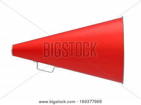 Red Vintage Megaphone isolated on white background. 3D render