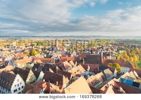 cityscape of Rothenburg ob der Tauber, Germany
