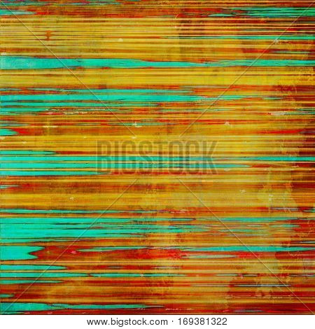 Grunge abstract textured background, aged backdrop with different color patterns: yellow (beige); brown; green; blue; red (orange); cyan
