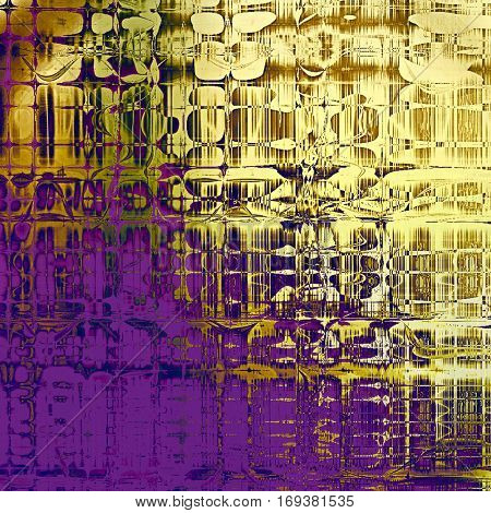 Old, grunge background or damaged texture in retro style. With different color patterns: yellow (beige); brown; green; blue; purple (violet)