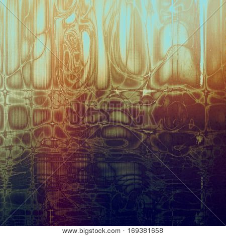Creative elegant design used as retro background for your art project. With grunge texture and different color patterns: yellow (beige); brown; blue; red (orange); purple (violet); gray