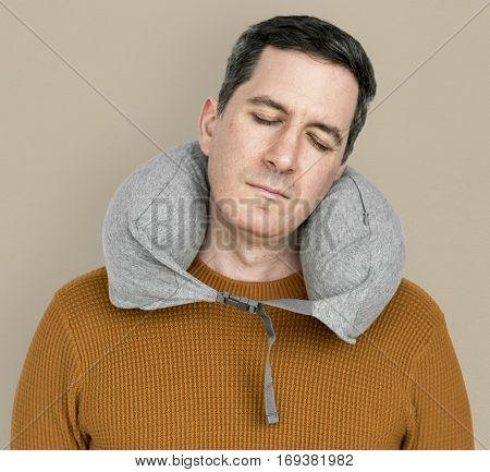 Man Neck Pilow Comfortable Sleeping Relaxation