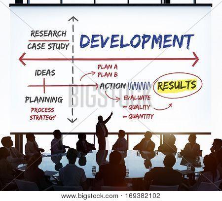 Target Achievement Goals Strategy Concept