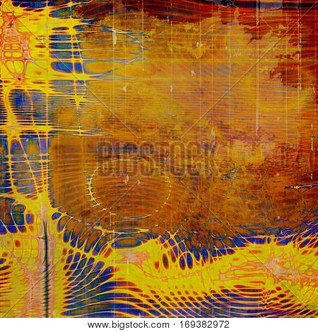Retro colorful background or creative old style texture with different color patterns: yellow (beige); brown; blue; red (orange); pink
