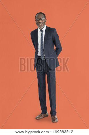 African Businessman Studio Portrait Concept
