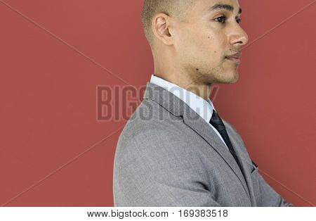 Business Man Side View Concept