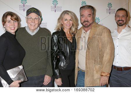 Palm Springs - JAN 4:  Viktoria Stamm, Jorn Winther, Denise DuBarry, John Callahan, Andrew McGuiness at the