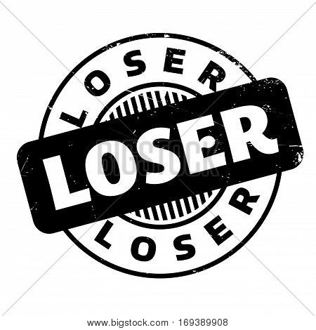 Loser rubber stamp. Grunge design with dust scratches. Effects can be easily removed for a clean, crisp look. Color is easily changed.